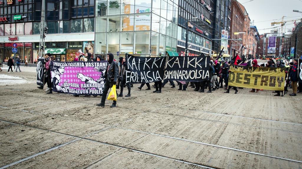 Rasisminvastainen kulkue 27.1.2013